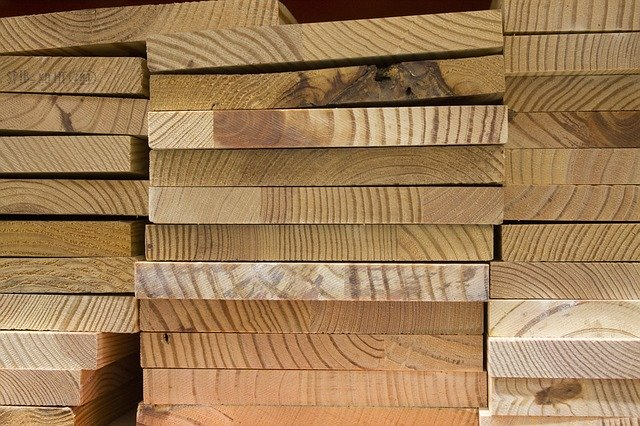 Pine Board Stack