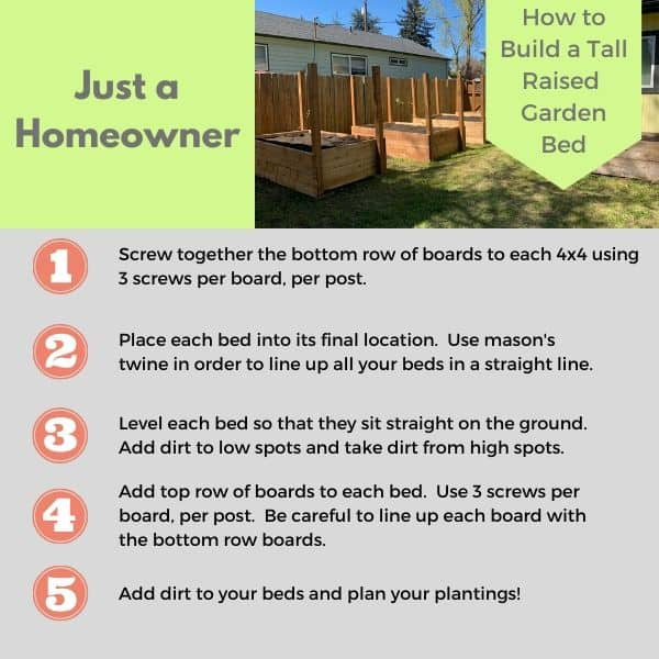 How to Build a Tall Raised Garden Bed