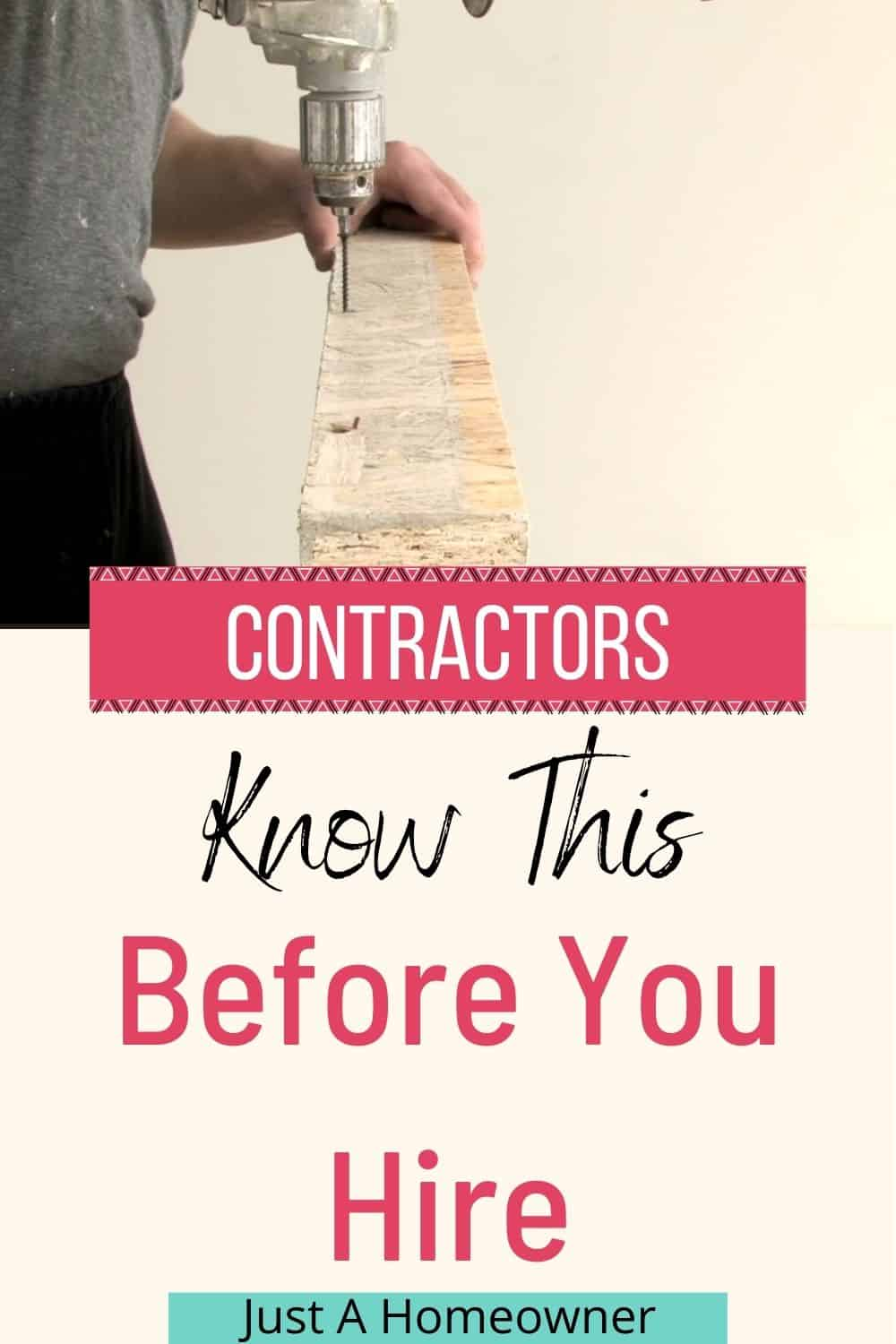 How to Choose a Contractor