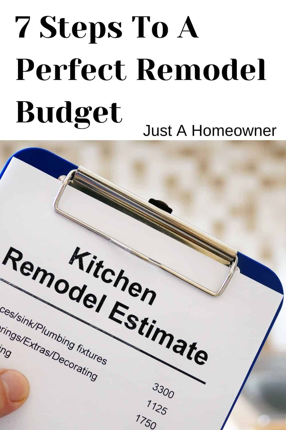 7 Steps To An Accurate Kitchen Remodel Budget